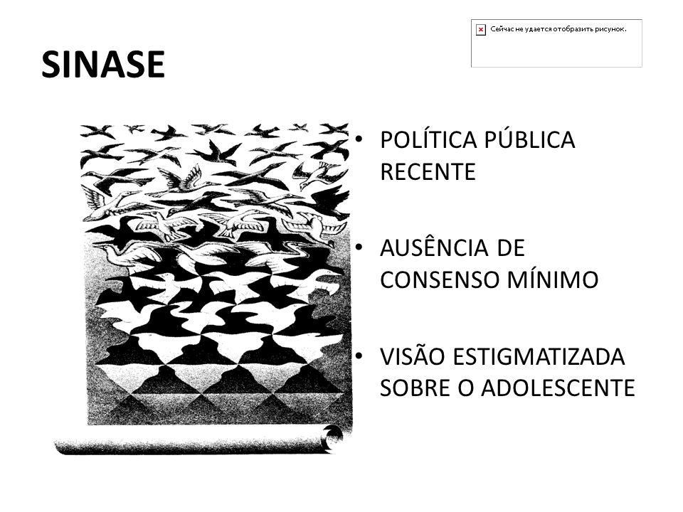 SINASE POLÍTICA PÚBLICA RECENTE AUSÊNCIA DE CONSENSO MÍNIMO VISÃO ESTIGMATIZADA SOBRE O ADOLESCENTE