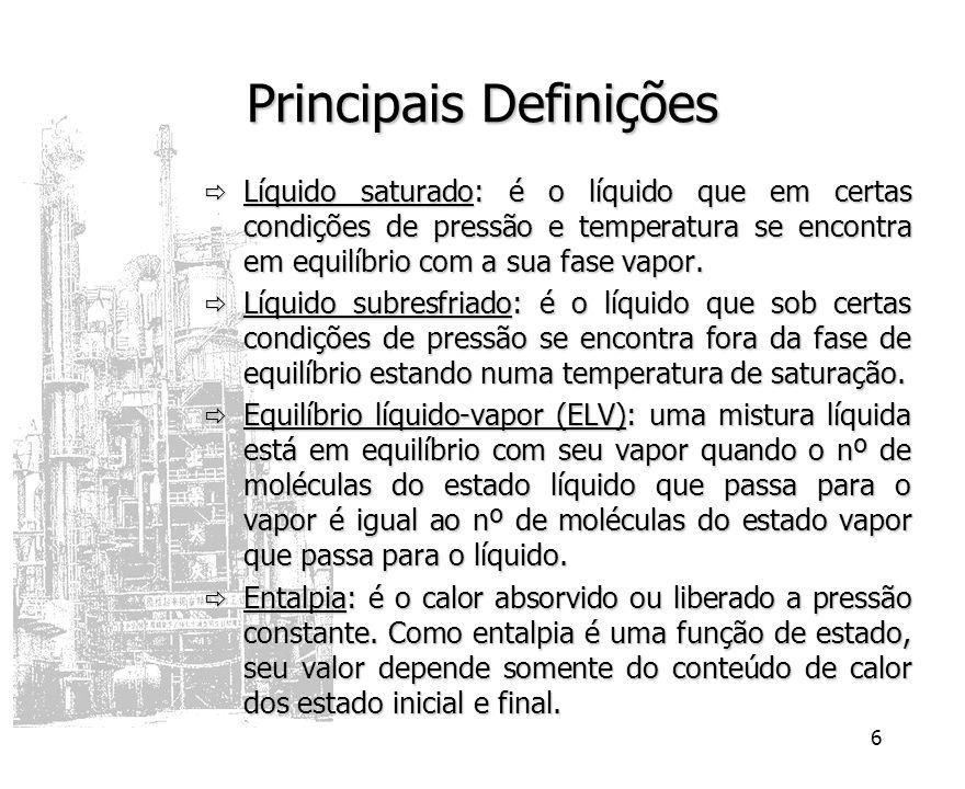 7 Destilação Conceito: é uma operação que visa separar os componente de uma fase líquida através de sua vaporização parcial.