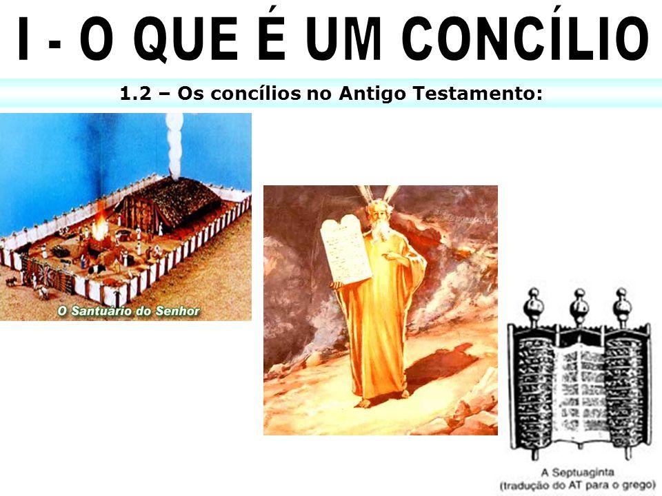 1.2 – Os concílios no Antigo Testamento: