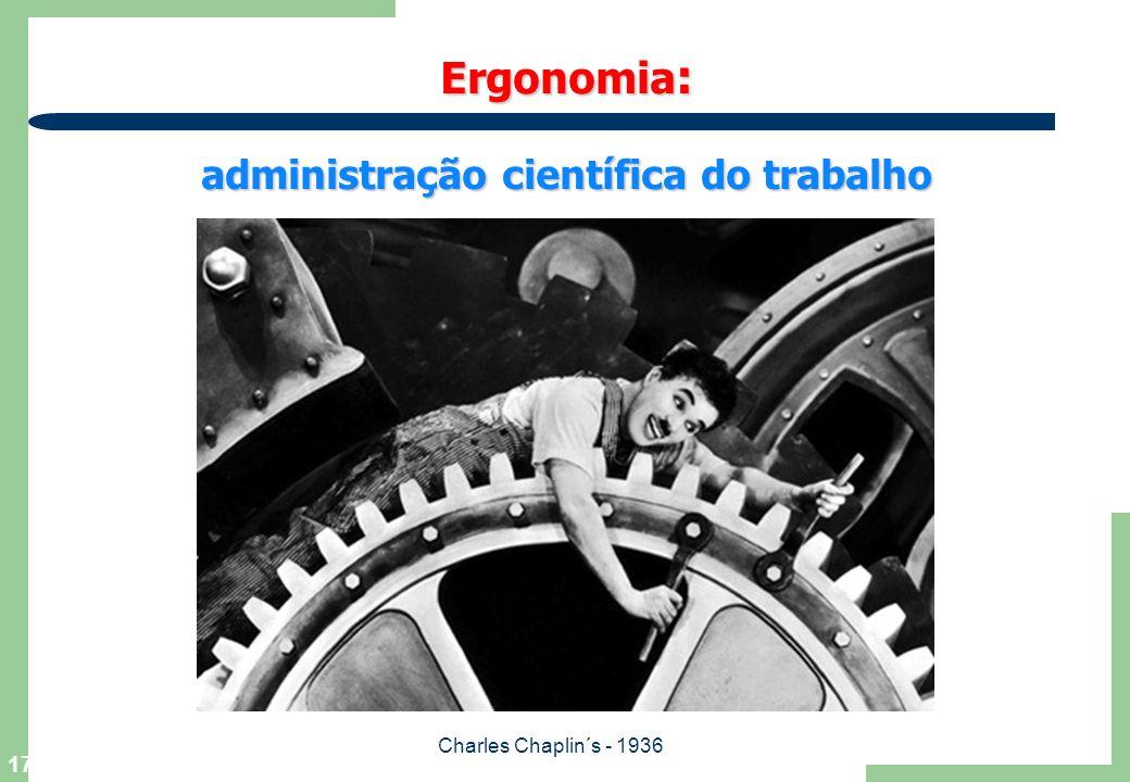 17 Ergonomia : administração científica do trabalho