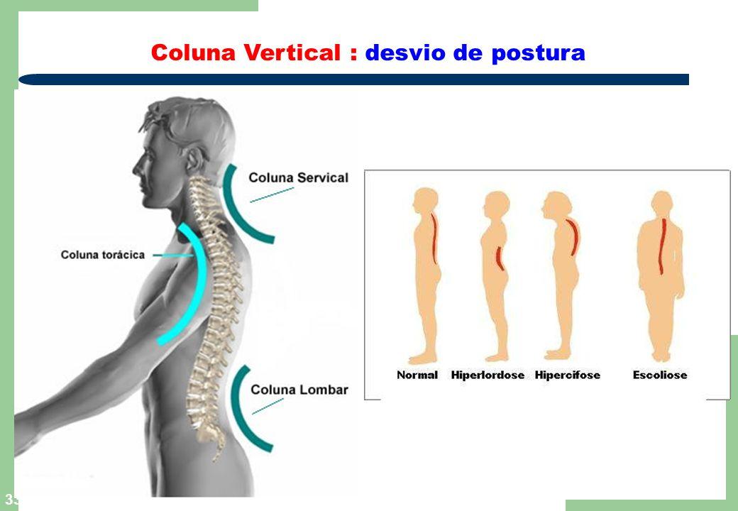 33 Coluna Vertical : desvio de postura