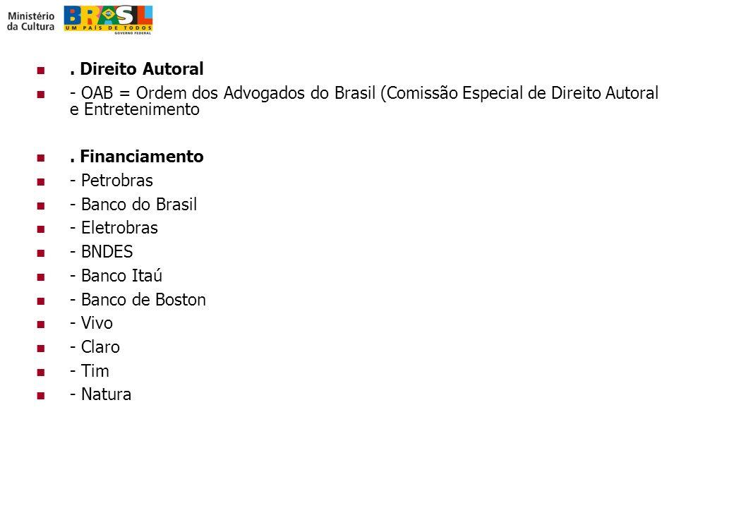 Direito Autoral - OAB = Ordem dos Advogados do Brasil (Comissão Especial de Direito Autoral e Entretenimento.