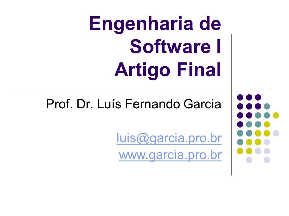 Engenharia de Software I Artigo Final Prof.Dr.