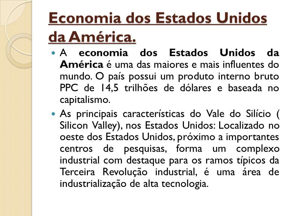 Economia dos Estados Unidos da América. A economia dos Estados Unidos da América é uma das maiores e mais influentes do mundo. O país possui um produt