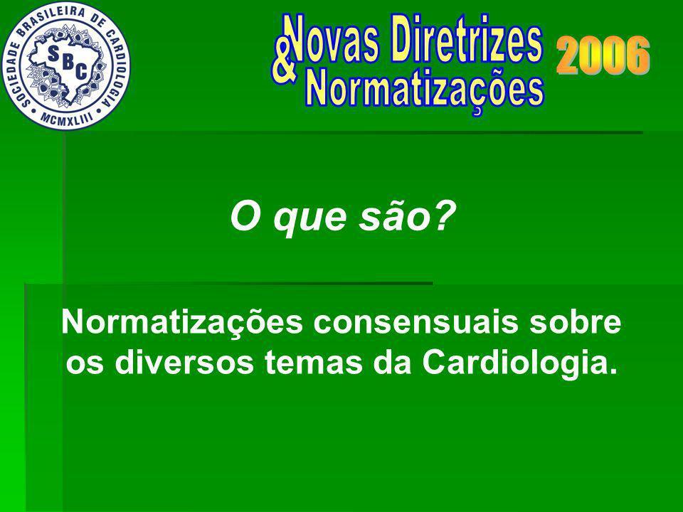 Normatizações consensuais sobre os diversos temas da Cardiologia. O que são