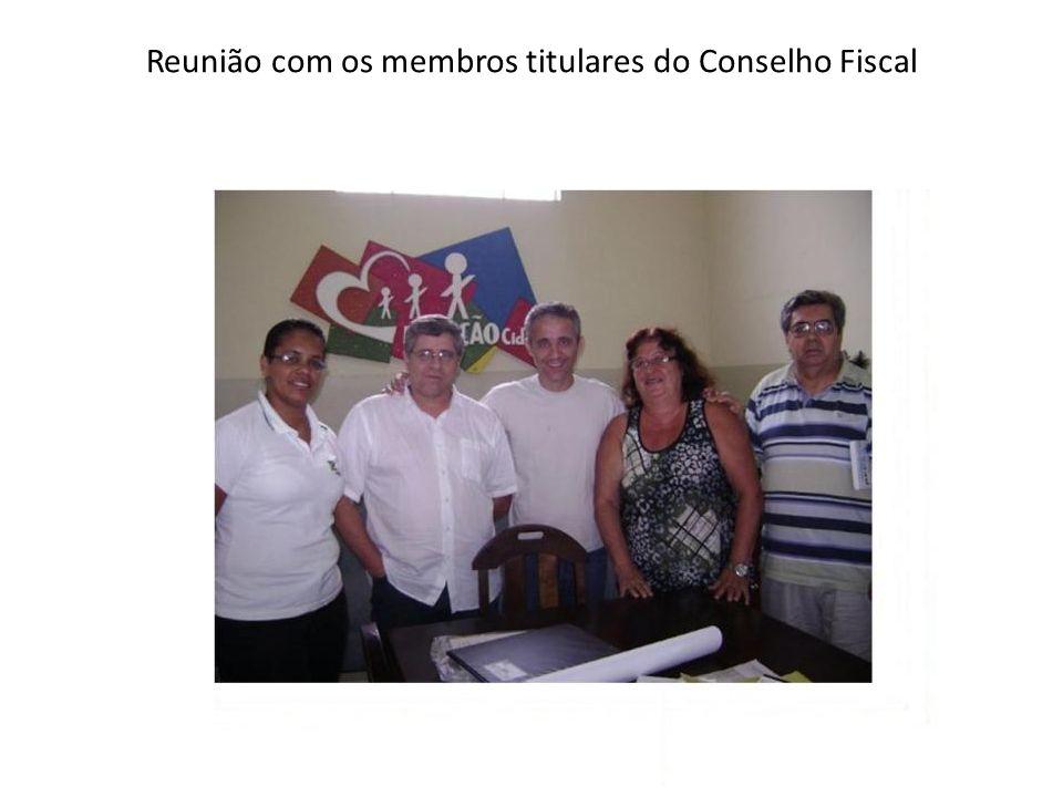 Reunião com os membros titulares do Conselho Fiscal