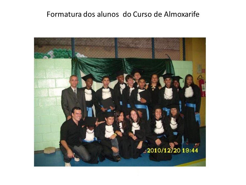 Formatura dos alunos do Curso de Almoxarife