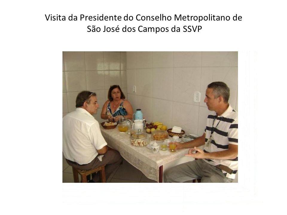 Visita da Presidente do Conselho Metropolitano de São José dos Campos da SSVP