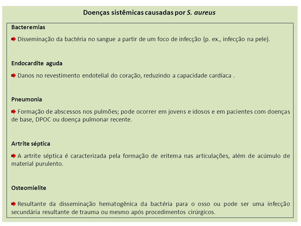 Bacteremias Disseminação da bactéria no sangue a partir de um foco de infecção (p.