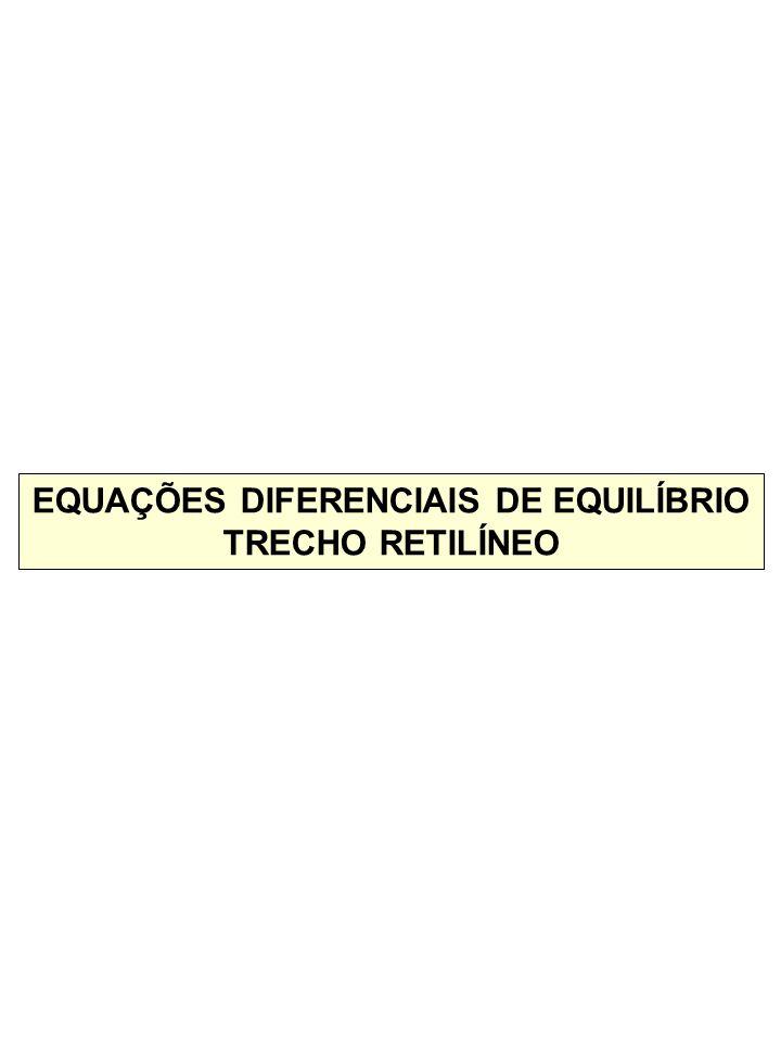 EQUAÇÕES DIFERENCIAIS DE EQUILÍBRIO TRECHO RETILÍNEO