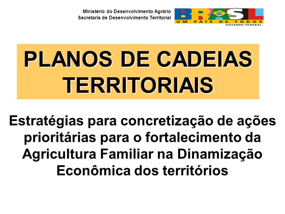 Estratégias para concretização de ações prioritárias para o fortalecimento da Agricultura Familiar na Dinamização Econômica dos territórios PLANOS DE