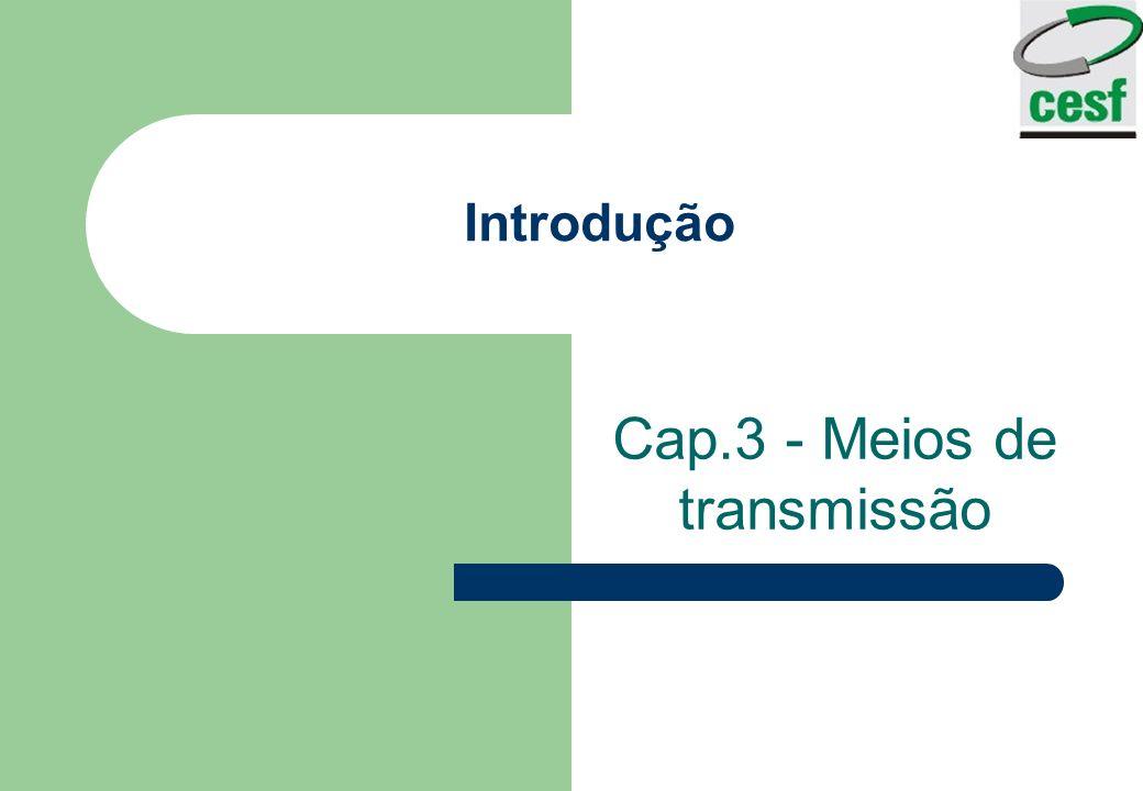 Introdução Cap.3 - Meios de transmissão