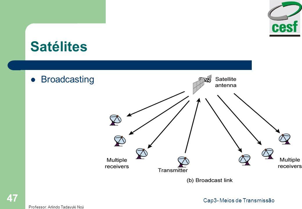 Professor: Arlindo Tadayuki Noji Cap3- Meios de Transmissão 47 Satélites Broadcasting