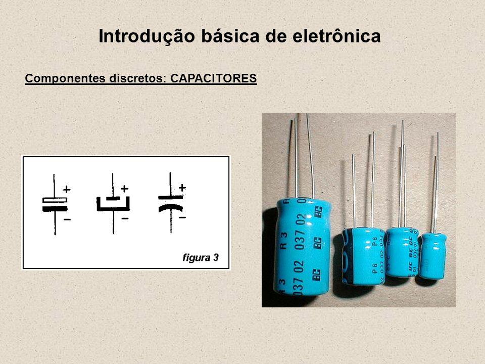 Introdução básica de eletrônica Componentes discretos: CAPACITORES Trimmer Símbolo