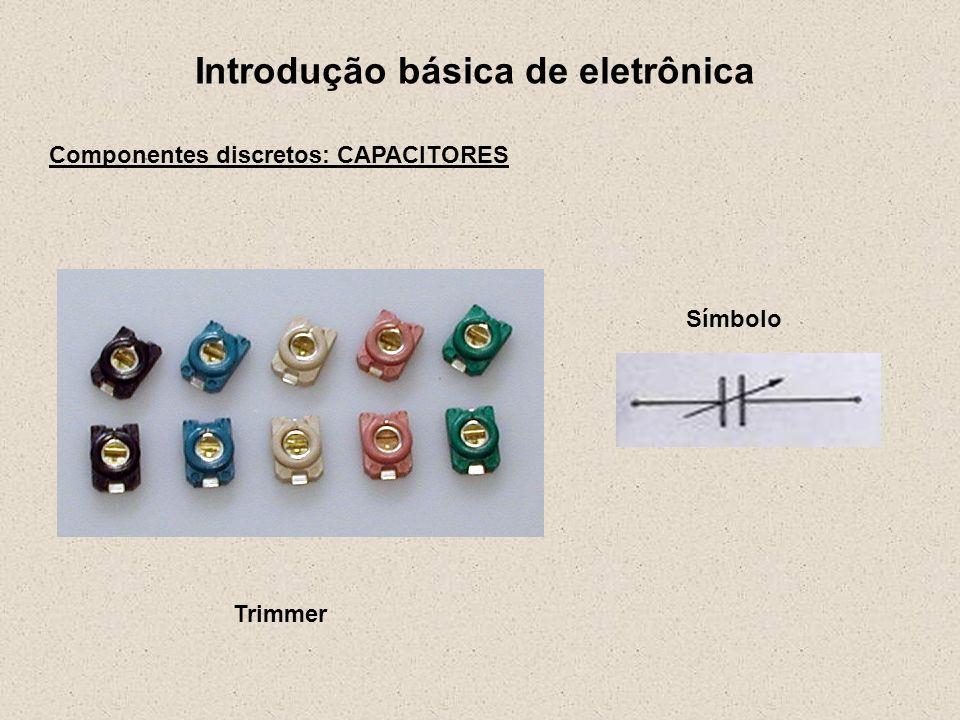 Introdução básica de eletrônica Componentes discretos: INDUTORES Unidade: H Henry