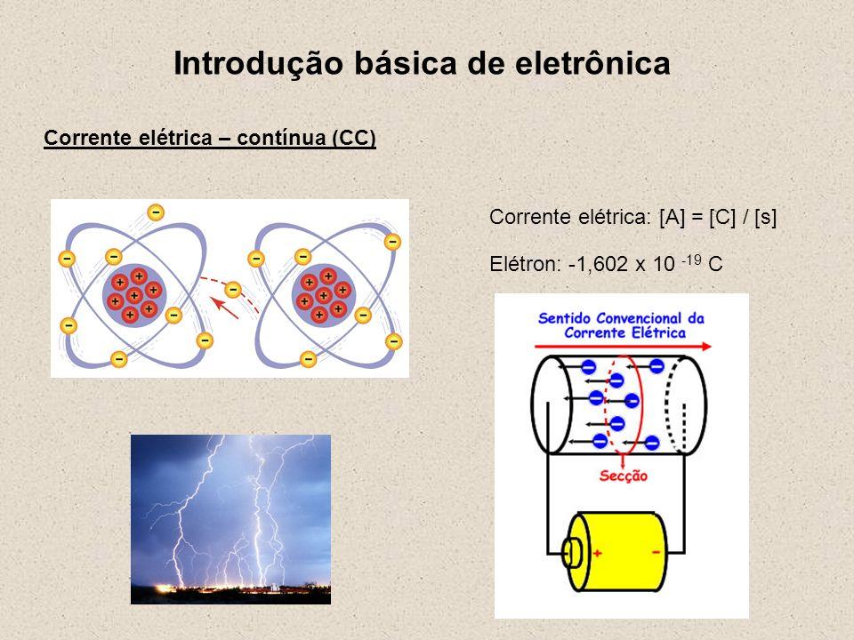 Introdução básica de eletrônica Formas de dissipação da energia: resistor calor Outras formas: som, movimento, luz, etc.