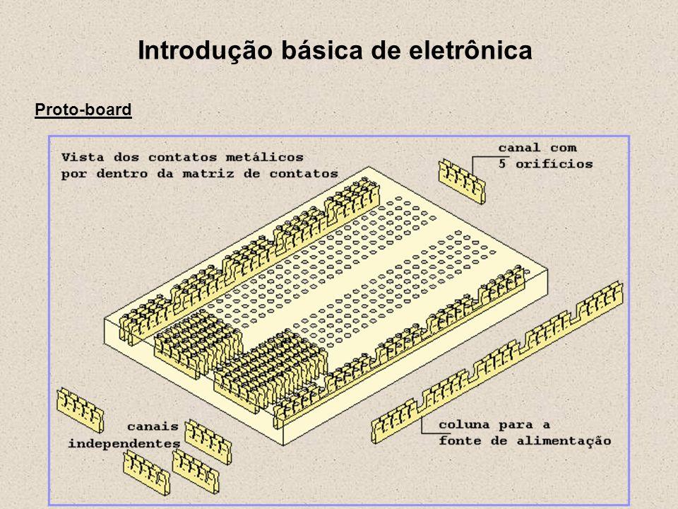 Introdução básica de eletrônica Proto-board