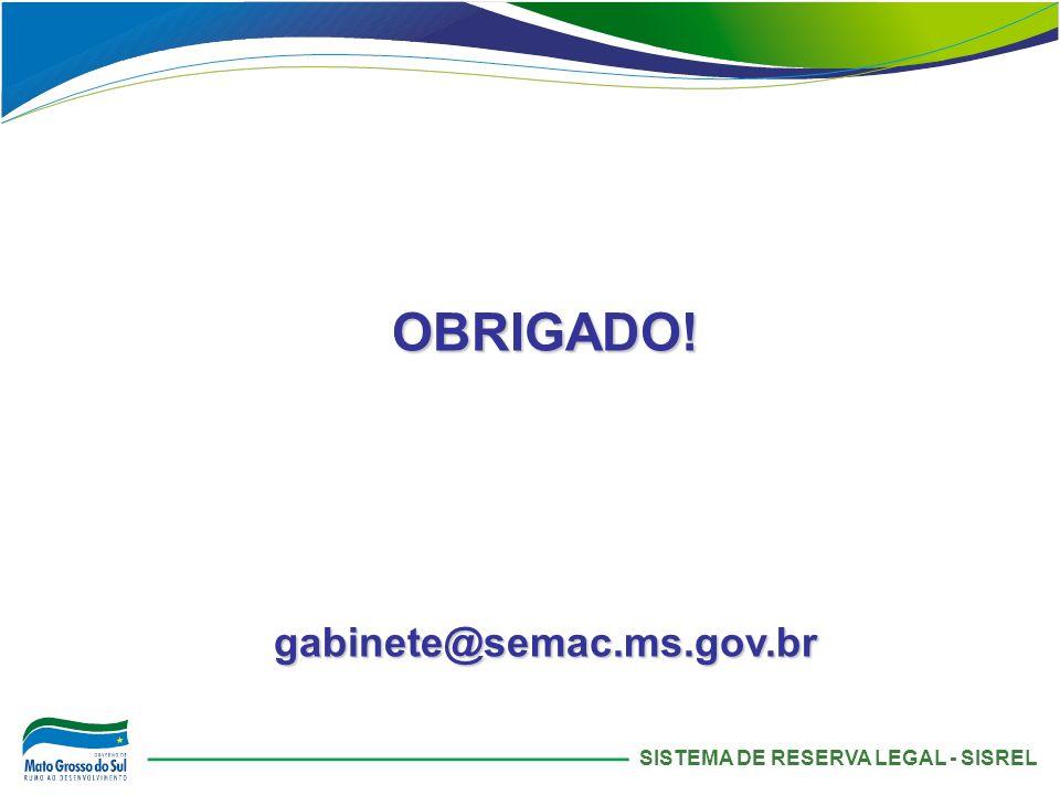 SISTEMA DE RESERVA LEGAL - SISREL OBRIGADO!gabinete@semac.ms.gov.br