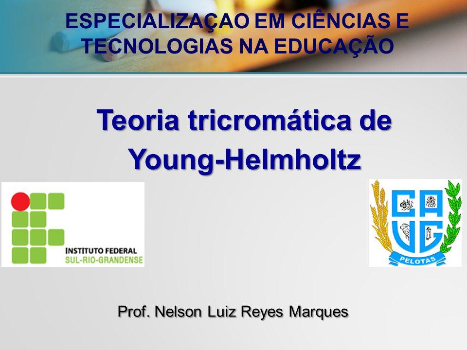 Prof. Nelson Luiz Reyes Marques Teoria tricromática de Young-Helmholtz ESPECIALIZAÇAO EM CIÊNCIAS E TECNOLOGIAS NA EDUCAÇÃO
