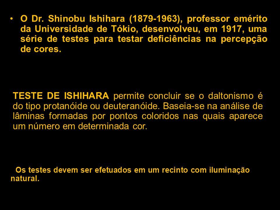 Como se faz a verificação? O Dr. Shinobu Ishihara (1879-1963), professor emérito da Universidade de Tókio, desenvolveu, em 1917, uma série de testes p