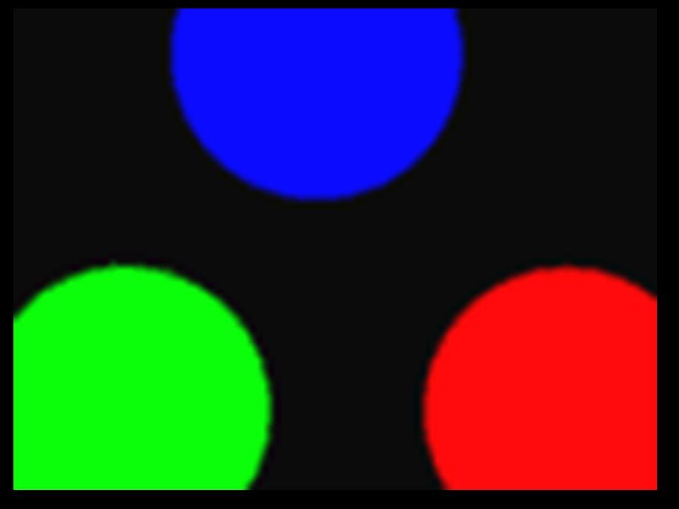 COR Luz: As Primárias São: Vermelho, Verde e Azul São Puras: Não se Formam Pela Combinação de Outras Cores COR Luz: As Secundátrias São: Ciano, Magenta e Amarelo São Formadas Pela Adição das Primárias: Ciano,= Verde + Azul Magenta = Vermelho + Azul Amarelo = Vermelho, + Verde A Soma das Três = Branco