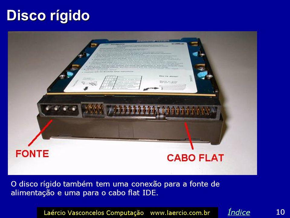 Cabo de alimentação Encaixe exatamente como mostra a figura, caso contrário, o drive de disquete queimará. 9 Índice