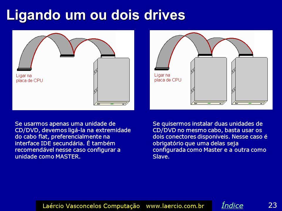 Jumper Master/Slave Na parte traseira das unidades de CD / DVD existem 3 pares de pinos metálicos, chamados de: MA = Master SL = Slave CS = Cable Sele