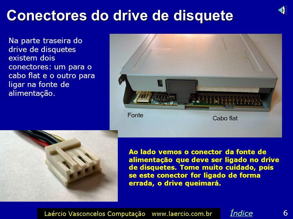 Drive de disquete Apesar de obsoleto, o drive de disquetes está presente na maioria dos micros atuais. É barato, portanto não vale a pena abrir mão de