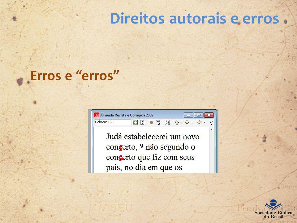 Direitos autorais e erros Erros e erros