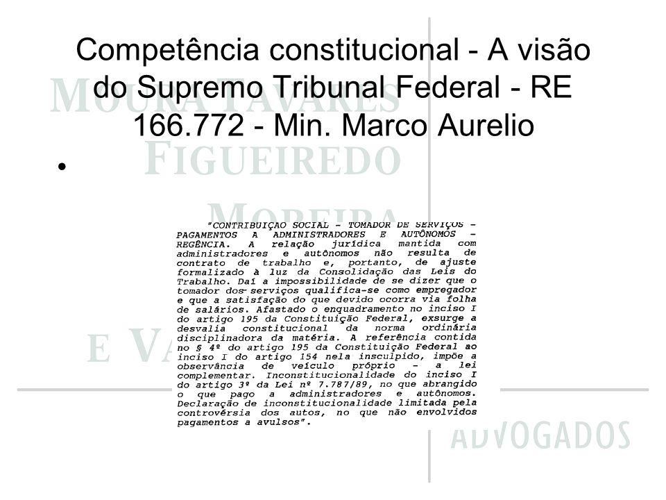 Competência constitucional - A visão do Supremo Tribunal Federal - RE 177.296 - Min.