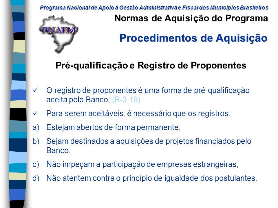 Programa Nacional de Apoio à Gestão Administrativa e Fiscal dos Municípios Brasileiros Programa Nacional de Apoio à Gestão Administrativa e Fiscal dos