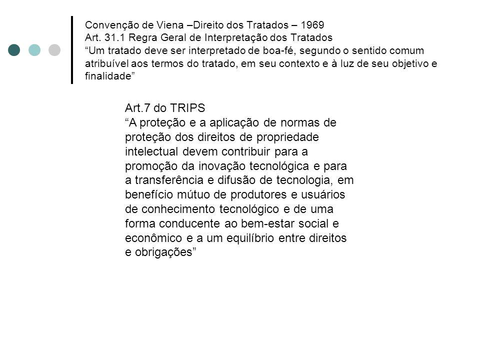 Convenção de Viena –Direito dos Tratados – 1969 Art. 31.1 Regra Geral de Interpretação dos Tratados Um tratado deve ser interpretado de boa-fé, segund