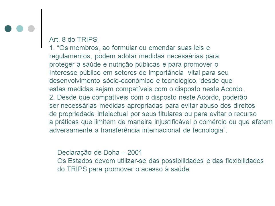 Art. 8 do TRIPS 1.