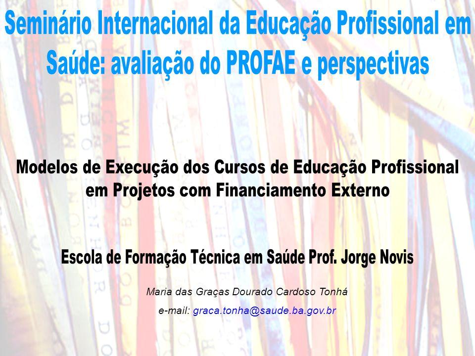 Maria das Graças Dourado Cardoso Tonhá e-mail: graca.tonha@saude.ba.gov.br