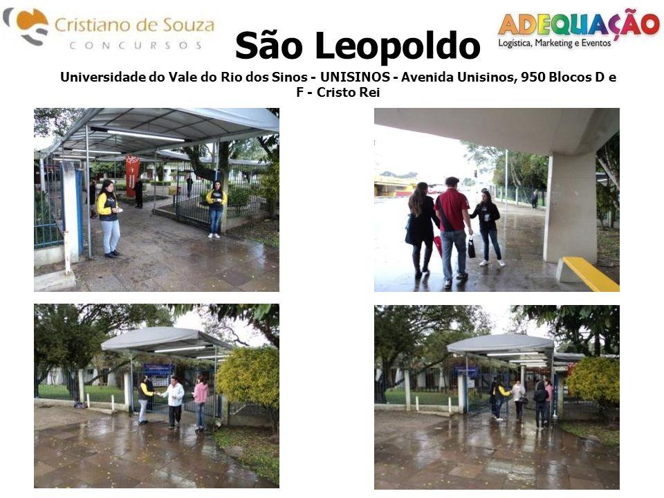 Universidade do Vale do Rio dos Sinos - UNISINOS - Avenida Unisinos, 950 Blocos D e F - Cristo Rei São Leopoldo