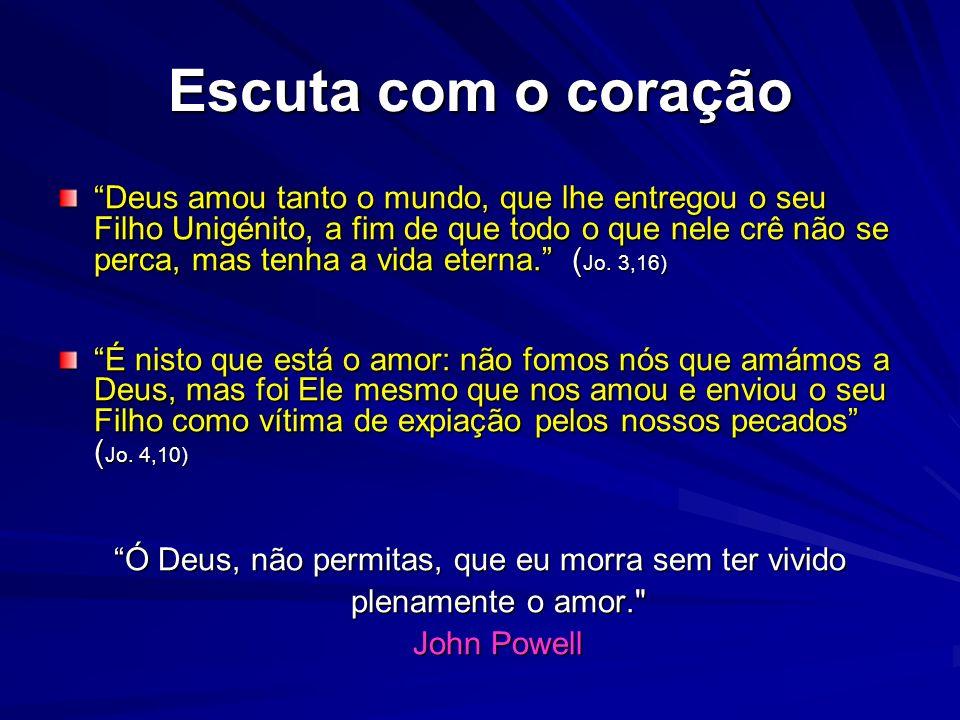 O coração do cristianismo é o amor (1) Escuta, Israel! O Senhor é nosso Deus; o Senhor é único! Amarás o Senhor, teu Deus, com todo o teu coração, com