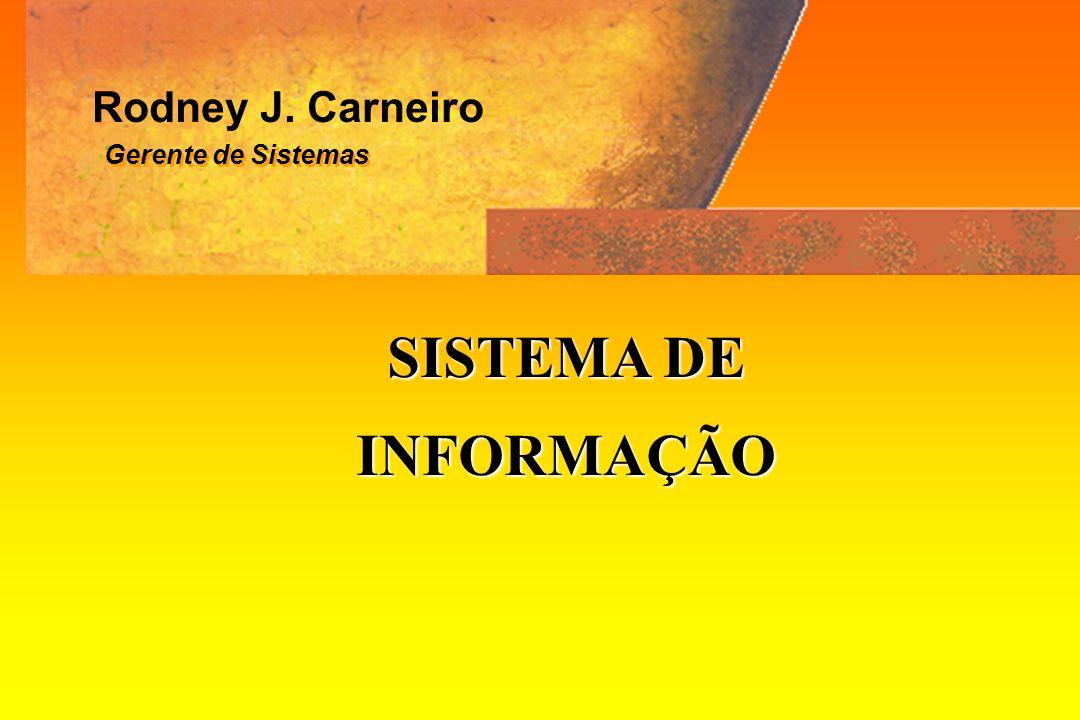 Rodney J. Carneiro Gerente de Sistemas SISTEMA DE INFORMAÇÃO
