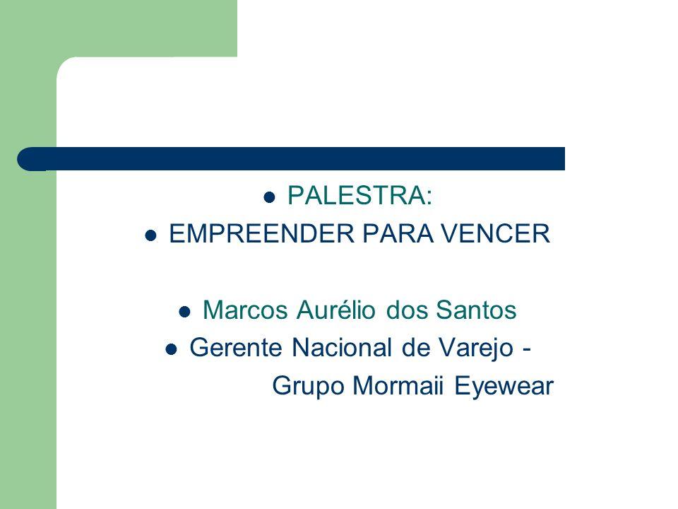 PALESTRA: EMPREENDER PARA VENCER Marcos Aurélio dos Santos Gerente Nacional de Varejo - Grupo Mormaii Eyewear