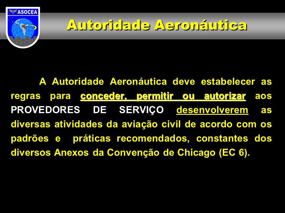 conceder, permitir ou autorizar A Autoridade Aeronáutica deve estabelecer as regras para conceder, permitir ou autorizar aos PROVEDORES DE SERVIÇO des