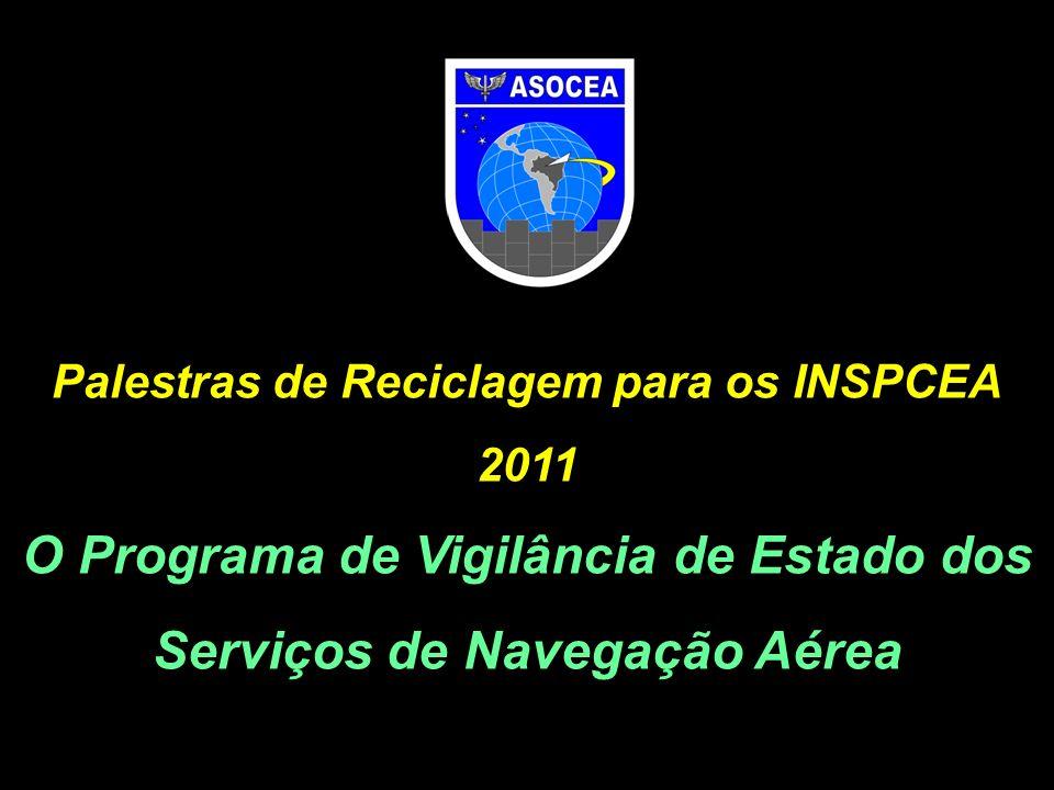Palestras de Reciclagem para os INSPCEA 2011 O Programa de Vigilância de Estado dos Serviços de Navegação Aérea