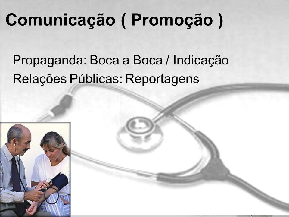 Propaganda: Boca a Boca / Indicação Relações Públicas: Reportagens Comunicação ( Promoção )