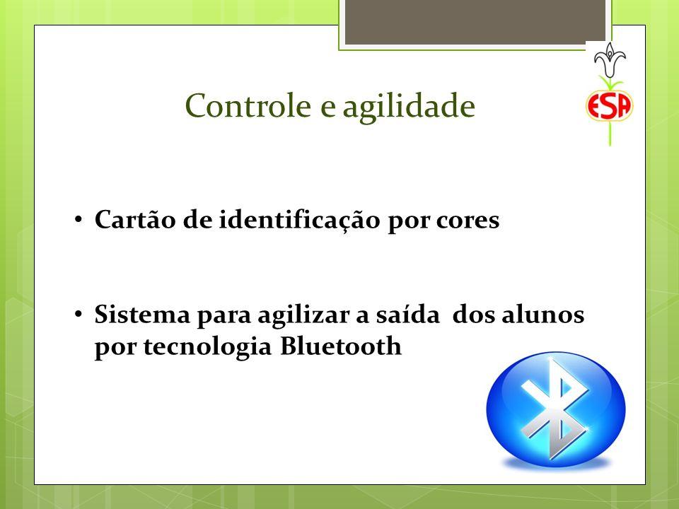 Controle e agilidade Cartão de identificação por cores Sistema para agilizar a saída dos alunos por tecnologia Bluetooth