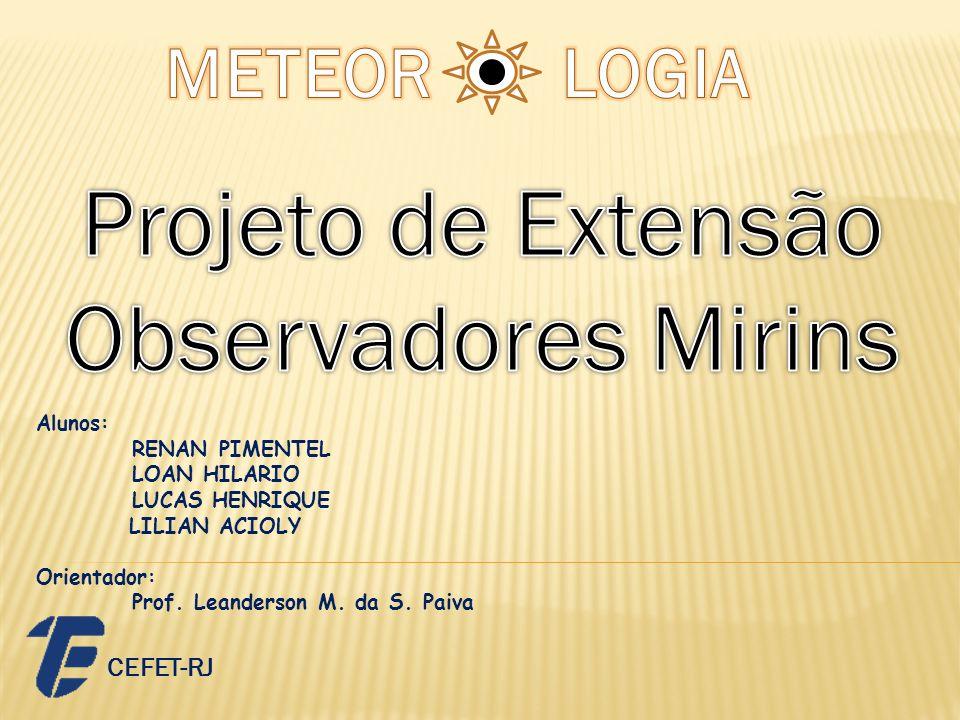 Alunos: RENAN PIMENTEL LOAN HILARIO LUCAS HENRIQUE LILIAN ACIOLY Orientador: Prof. Leanderson M. da S. Paiva CEFET-RJ