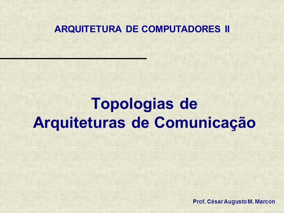 Topologias de Arquiteturas de Comunicação Prof. César Augusto M. Marcon ARQUITETURA DE COMPUTADORES II