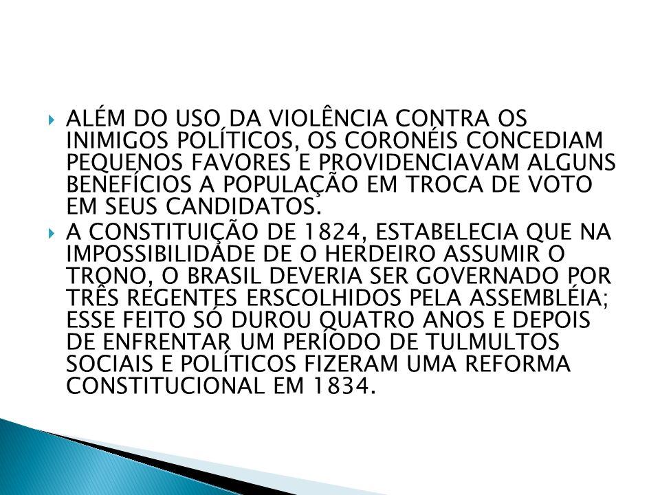 DURANTE O PERÍODO DA REPÚBLICA VELHA( 1889-1930), INTERESSAVA AO GOVERNO FEDERAL QUE HOUVESSEM LÍDERES LOCAIS QUE PUDESSE REALIZAR TROCA DE FAVORES.