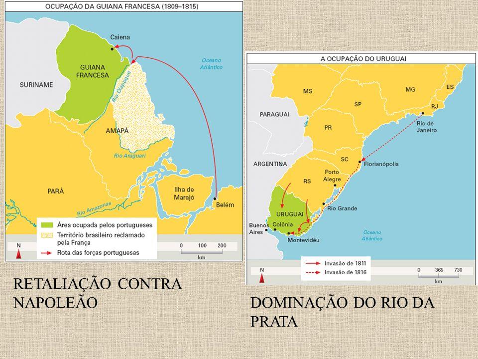 RETALIAÇÃO CONTRA NAPOLEÃO DOMINAÇÃO DO RIO DA PRATA