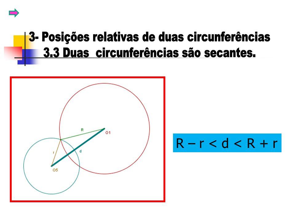 R – r < d < R + r