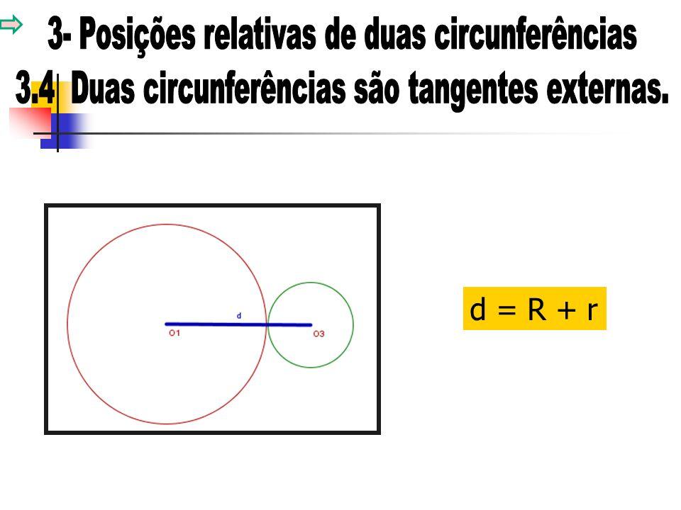 d = R + r