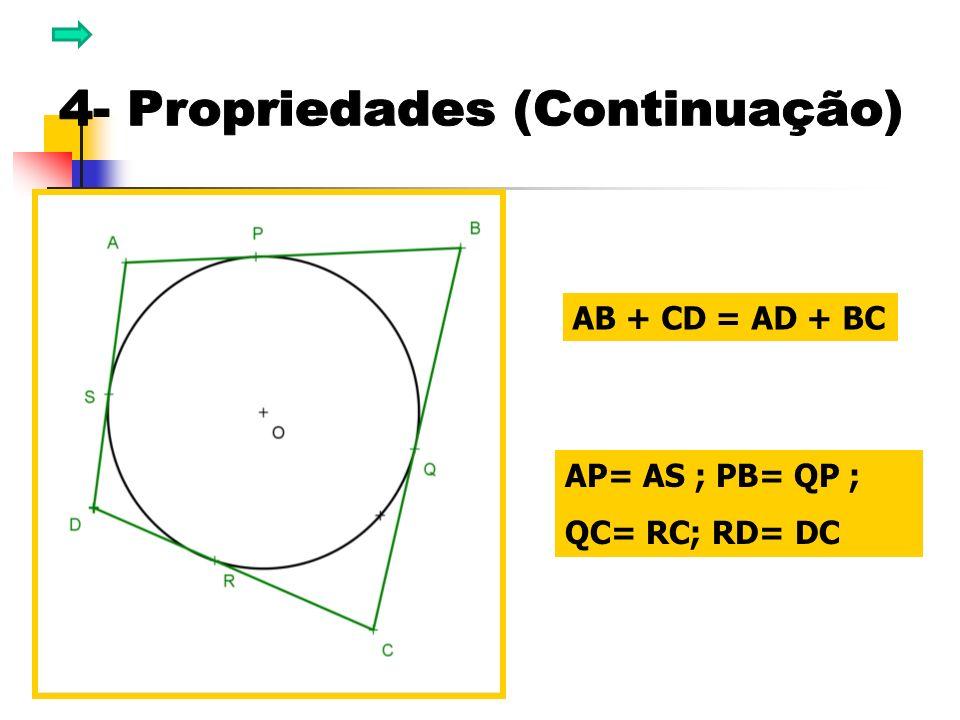 AB + CD = AD + BC AP= AS ; PB= QP ; QC= RC; RD= DC