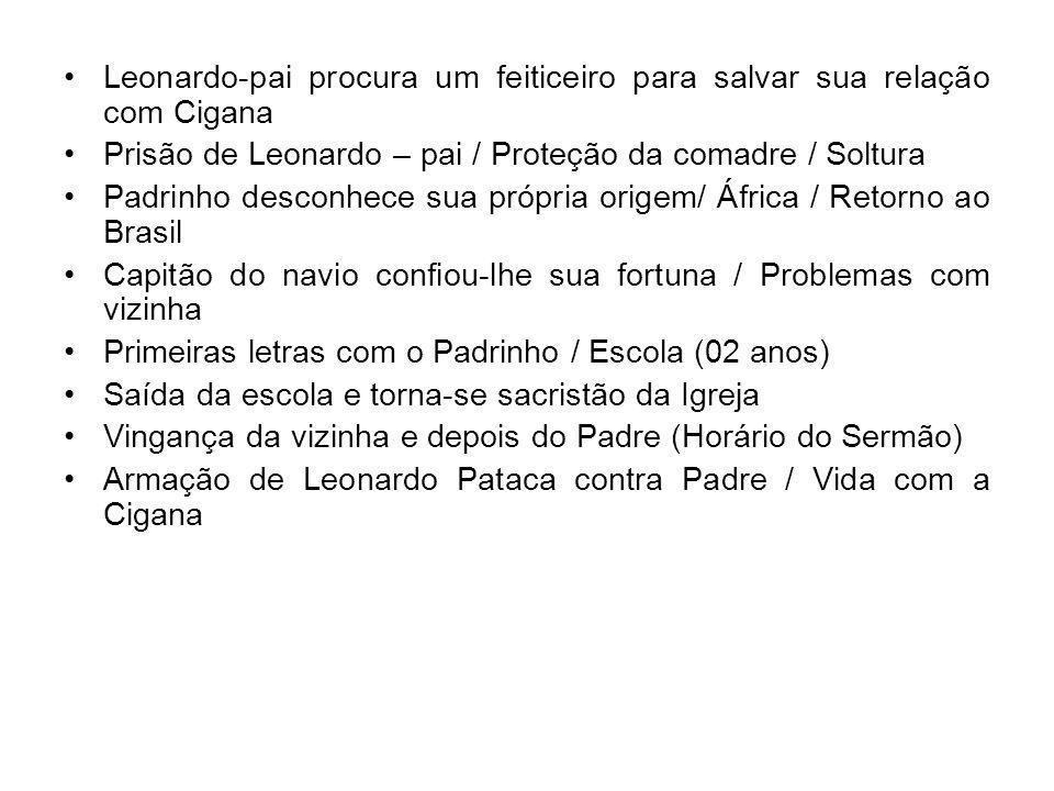 Leonardo-pai procura um feiticeiro para salvar sua relação com Cigana Prisão de Leonardo – pai / Proteção da comadre / Soltura Padrinho desconhece sua